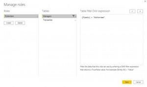 RLS in Power BI Screenshot - Assigning roles